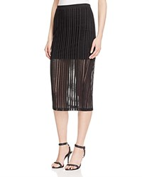 T By Alexander Wang Jacquard Jersey Fitted Skirt Black