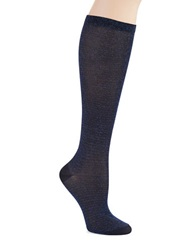 Kate Spade Sparkle Knee Hi Socks French Navy