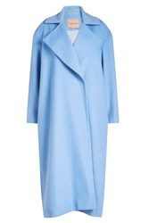Maggie Marilyn Wool Coat With Cashmere Blue