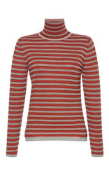 Marni Long Sleeve Striped Knit Top Red