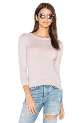 Enza Costa Tissue Jersey Bold Long Sleeve Crew Top Beige
