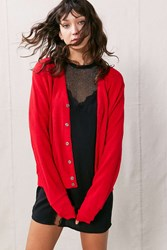 Urban Renewal Vintage Golf Cardigan Red