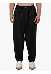 Marni Charcoal Relaxed Wool Trousers