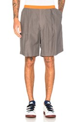 Kolor Contrast Waistband Shorts In Gray