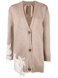 N 21 No21 Knitted Cardigan Nude Neutrals