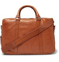 Shinola Leather Briefcase Tan
