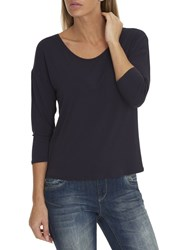 Betty And Co. Three Quarter Sleeve Jersey Top Sapphire