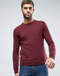 Scotch And Soda Cotton Pullover Jumper Burgundy Red