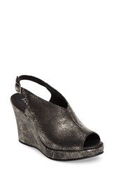 Five Worlds Women's By Cordani Amiga Wedge Sandal Pewter Leather