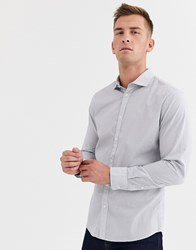 Selected Homme Salford Slim Long Sleeve Shirt White