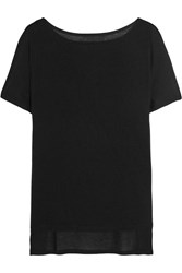 Enza Costa Jersey T Shirt Black
