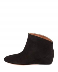 Alaia Suede Demi Wedge Ankle Boot Black