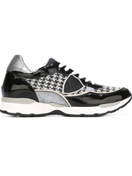 Philippe Model Houndstooth Panel Sneakers Black
