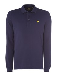 Lyle And Scott Men's Long Sleeve Classic Polo Navy