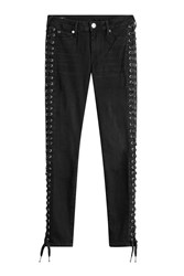 True Religion Skinny Jeans With Lace Up Sides Gr. 25