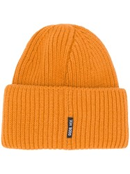 Golden Goose Deluxe Brand Knitted Fit Hat Yellow And Orange