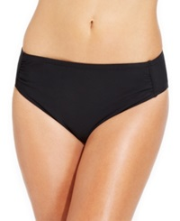 Inc International Concepts Ruched Hipster Bikini Bottom Women's Swimsuit Black