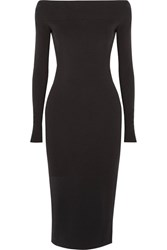 Narciso Rodriguez Off The Shoulder Stretch Crepe Dress Black