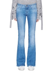 Denham Jeans 'Farrah' Flare Active Denim Pants Blue