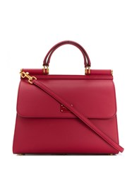 Dolce And Gabbana Sicily 58 Tote Bag Red