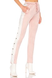 By The Way Uma Side Snap Track Pant Pink