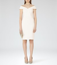 Reiss Haddi Womens Off The Shoulder Dress In White