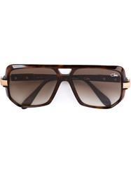 Cazal '627' Aviator Sunglasses Brown