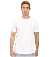 Lacoste Sport Short Sleeve Solid Ultra Dry Tee Shirt White Men's T Shirt