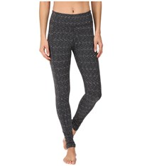 Lucy Power Train Pocket Leggings Black Twilight Spacedye Women's Workout