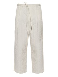 Craig Green Quilted Wide Leg Trousers