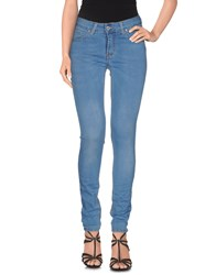 List Denim Denim Trousers Women Blue