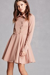 Forever 21 Flared Trench Coat Taupe