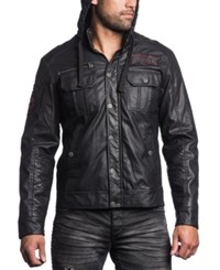 Affliction Dark Battle Faux Leather Jacket