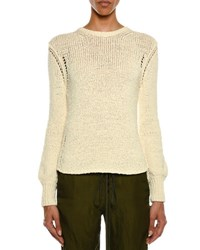 Tom Ford Crewneck Long Sleeve Knit Sweater Ivory