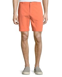 Tailorbyrd Twill Flat Front Shorts Tangerine