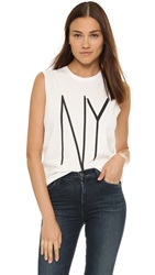 Earnest Sewn Troy Muscle Tee Ny White