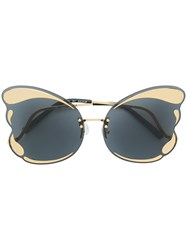 Matthew Williamson Special Butterfly Frame Sunglasses Metallic