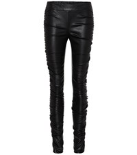 The Row Orshen Leather Trousers Black