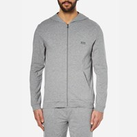 Hugo Boss Men's Hooded Zipped Sweatshirt Grey