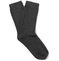 Nn.07 Nn07 Melange Wool Blend Socks Charcoal