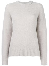 Alexander Wang T By Crew Neck Jumper Grey