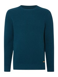 Army And Navy Maple Textured Crew Neck Jumper Petrol