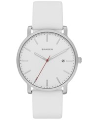 Skagen Men's Hagen White Silicone Strap Watch 40Mm Skw6345