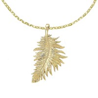 Dower And Hall Small Feather Pendant Gold N A N A