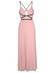 True Decadence Plunge Pleat Dress Light Dusty Pink