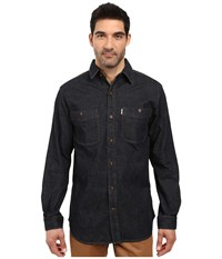 Carhartt Rugged Flex Patten Denim Shirt Rotary Rinse Men's Clothing Black