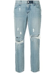 Rta Distressed Tapered Jeans Blue