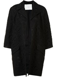 Adam By Adam Lippes Three Quarter Sleeve Coat Black