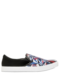 United Nude Printed Neoprene And Suede Sneakers Black Multi