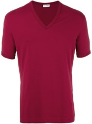 Dolce And Gabbana Underwear V Neck T Shirt Red